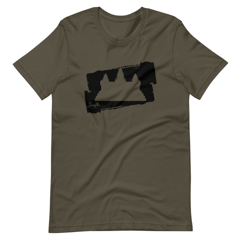 Cambodia Brushstroke black Short-Sleeve Unisex T-Shirt
