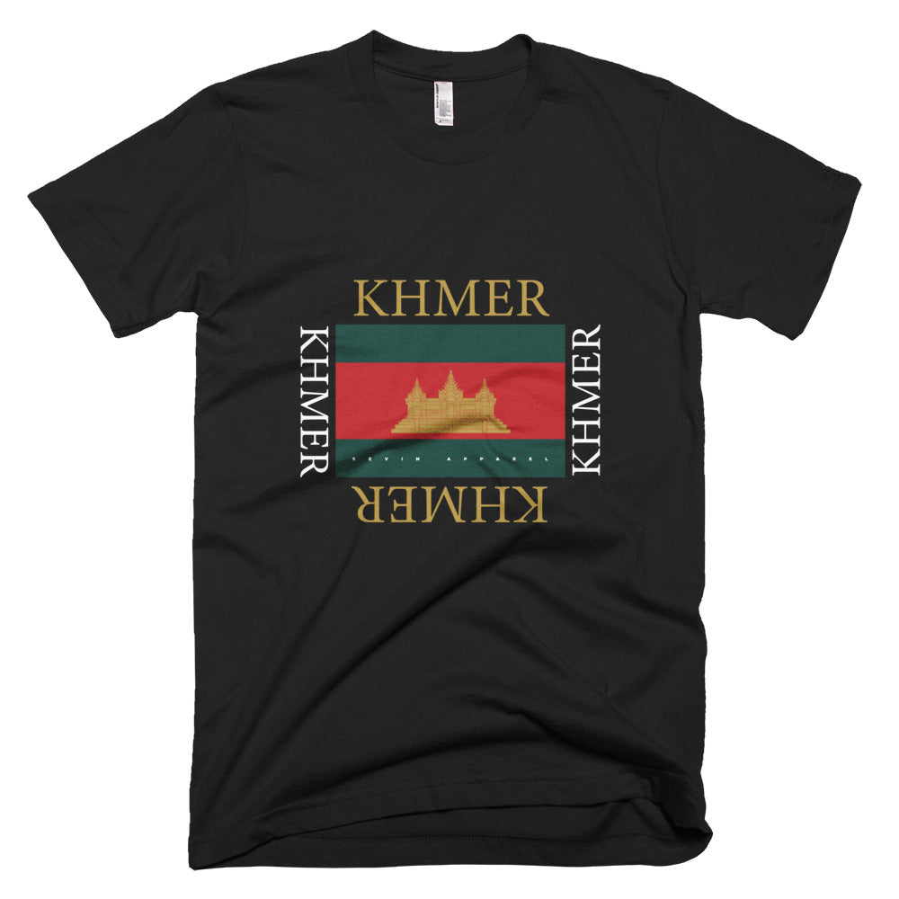 Khmer Temple Stripe wht T-Shirt