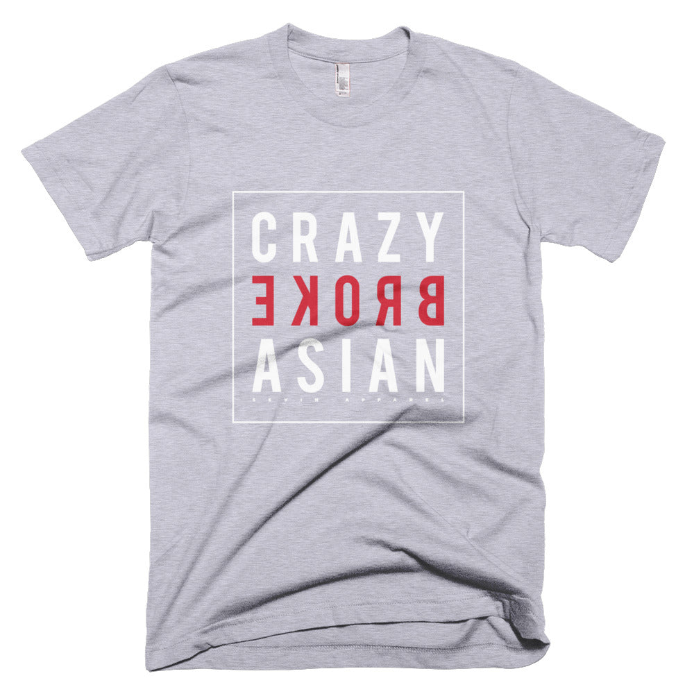 Crazy Broke Asian white Short-Sleeve T-Shirt