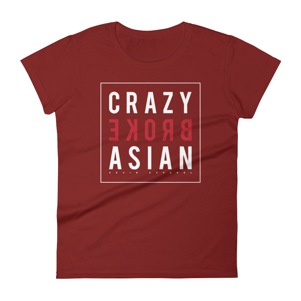 Women's Crazy Broke Asian short sleeve t-shirt