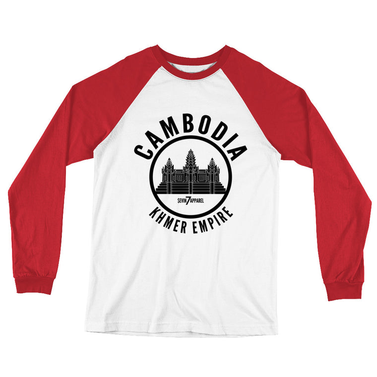 Cambodian Empire Long Sleeve Baseball T-Shirt