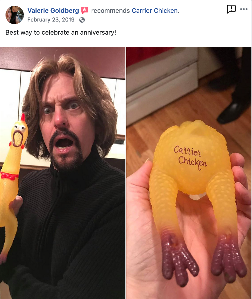 """Best anniversary gift ever!"""