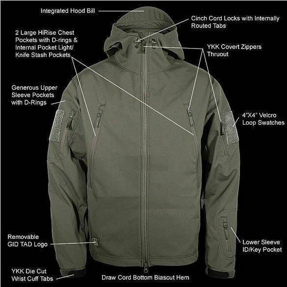 Shark Skin Soft Shell V4.0 Outdoor Military Tactical Jacket Waterproof  Jacket - Summit Depot 6e79807ef1fbc