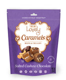 gluten free candy salted cashew chocolate caramels
