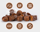 gluten free candy chocolate swirl caramels