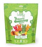 gluten free candy honey gummy bear 10 ct snack pack