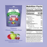 Organic Sour Chewy Candies, 5 oz gluten free organic candy nutritional panel