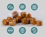 gluten free candy sea salt caramels