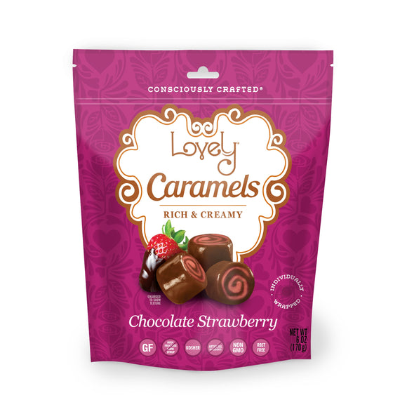 gluten free candy chocolate strawberry caramels
