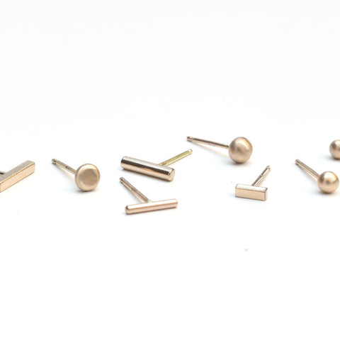 Gold + Silver Studs