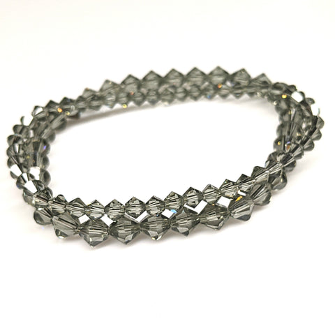 Black Diamond Swarovski Crystal Bracelet