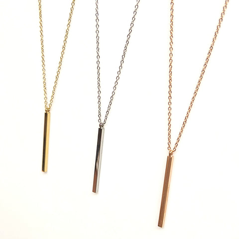 Drop Bar Necklace | 16-20"