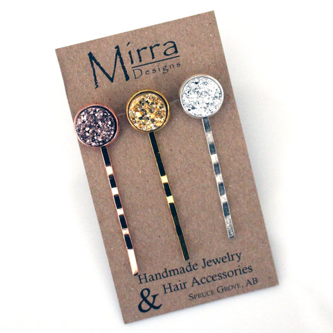 Silver and Gold Hair Pins