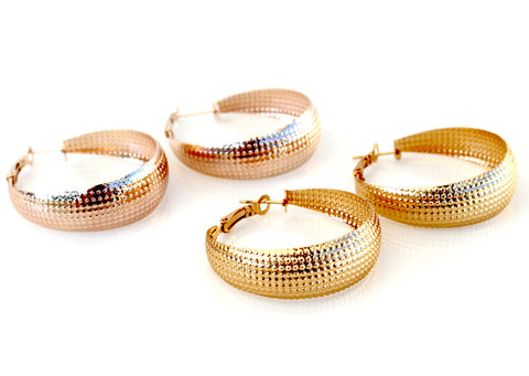 Retro Hoop Earrings