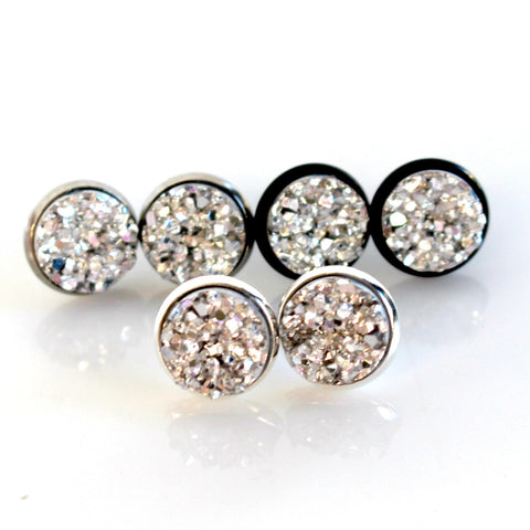 Silver Stud Earrings | 10mm