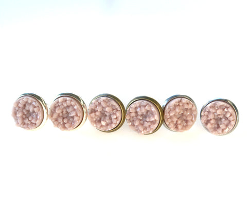 Dusty Mauve Stud Earrings | 10mm