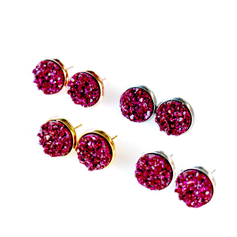 Boysenberry Stud Earrings | 10mm