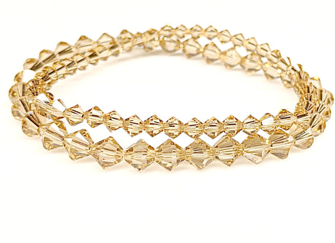 Light Colorado Topaz Swarovski Crystal Bracelet