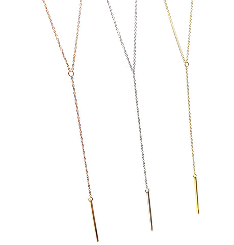 Pendant Bar Necklace | 16-20"