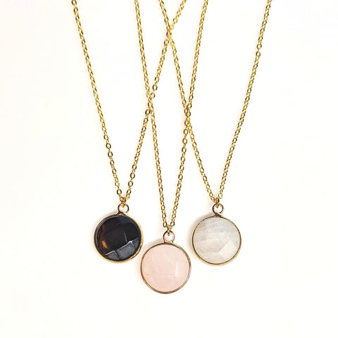 Gemstone Pendant Necklace | 24"