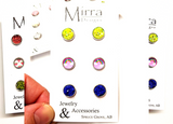 3 Pack | Love and Rainbows | 8mm Stud Earrings