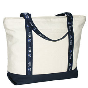 Large Boat Bag - Navy/Natural