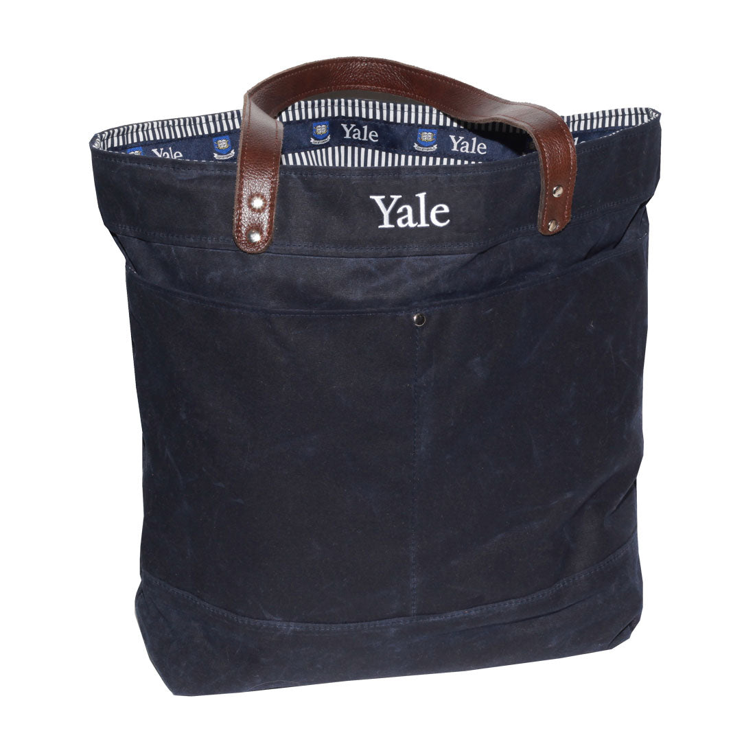 Navy Waxed Canvas Utility Tote