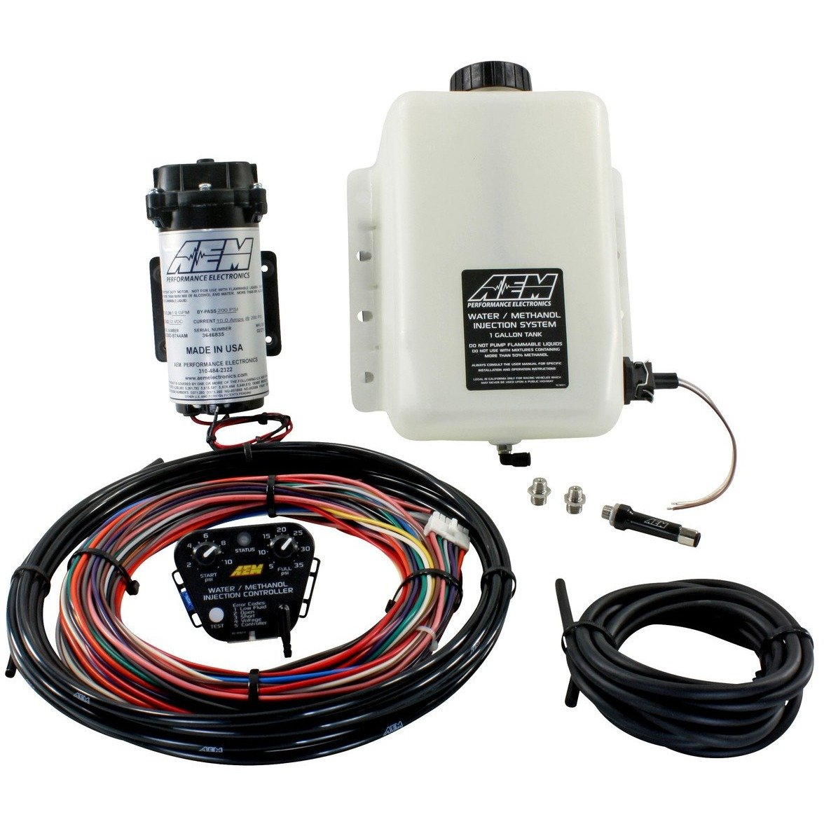 AEM 30-3300 - V2 WATER/METHANOL INJECTION KIT - STANDARD CONTROLLER 35PSI & 1 GALLON RESERVOIR,  WATER/METHANOL,  AEM,  Dark Road Performance - Dark Road Performance Ltd
