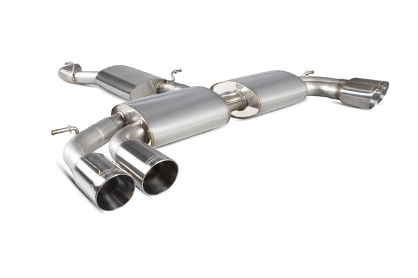 Audi S3 2.0T 8V Saloon Resonated cat-back system with no valves SAU052D Scorpion Exhaust