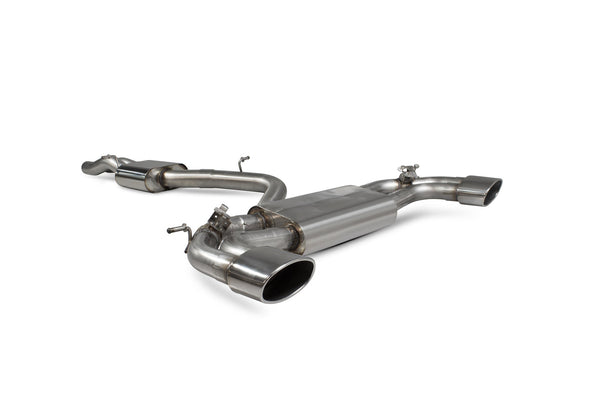 Audi RS3 Saloon 8V MQB (GPF and non GPF models) Resonated cat-back system with electronic valves SAU083 Scorpion Exhaust