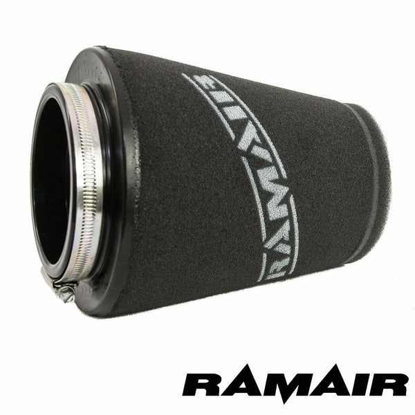 Ramair 90mm ID Neck - Polymer Base Neck Cone Air Filter - Dark Road Performance - RAMAIR