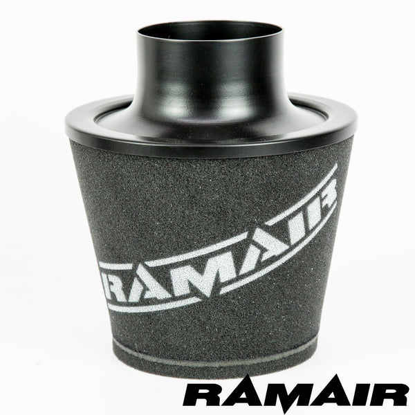 Ramair 100mm ID Neck - Large Aluminium Induction Cone Air Filter,  Air Filter, RAMAIR,  Dark Road Performance, [product_tags] - Dark Road Performance Ltd