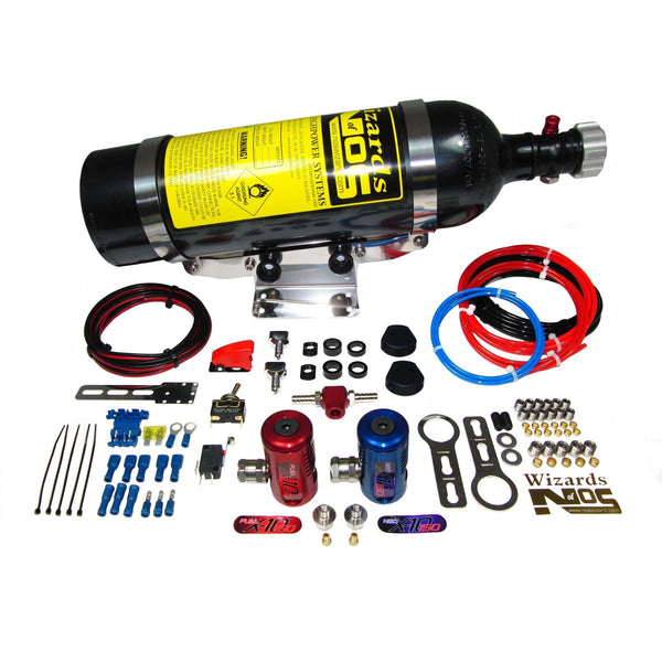 SB150i2 Nitrous Kit suitable for most engines with 2 throttle bodies - Dark Road Performance - WIZARDS OF NOS