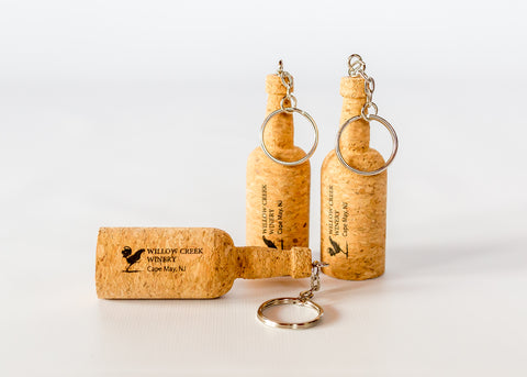 Willow Creek Cork Bottle Keychain