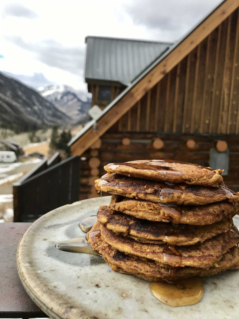 Post-workout. Power-refueling. Protein-packed. Sweet Potato Pancakes!