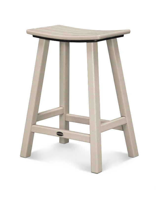 "Traditional 24"" Saddle Bar Stool Sand"