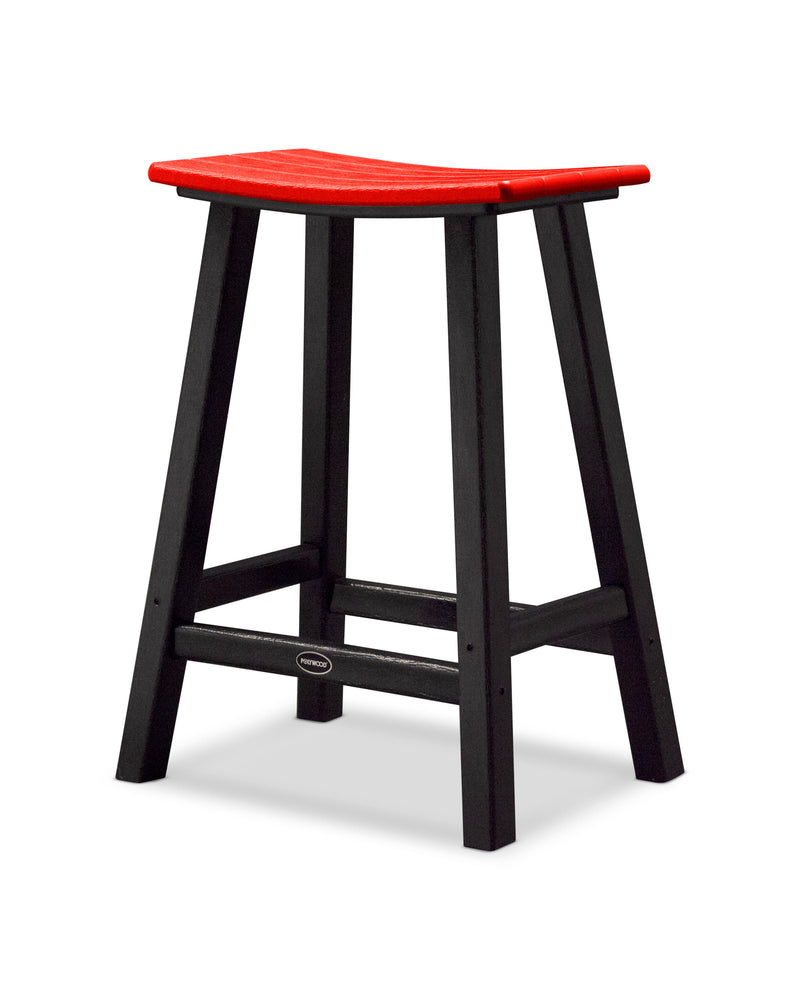 "Contempo 24"" Saddle Bar Stool"