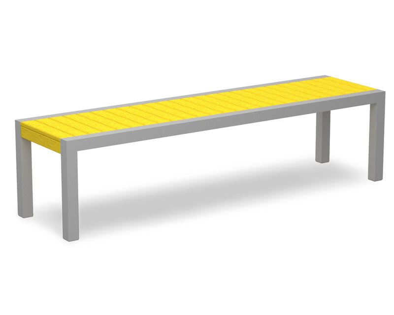 3800-11LE MOD Bench in Textured Silver & Lemon