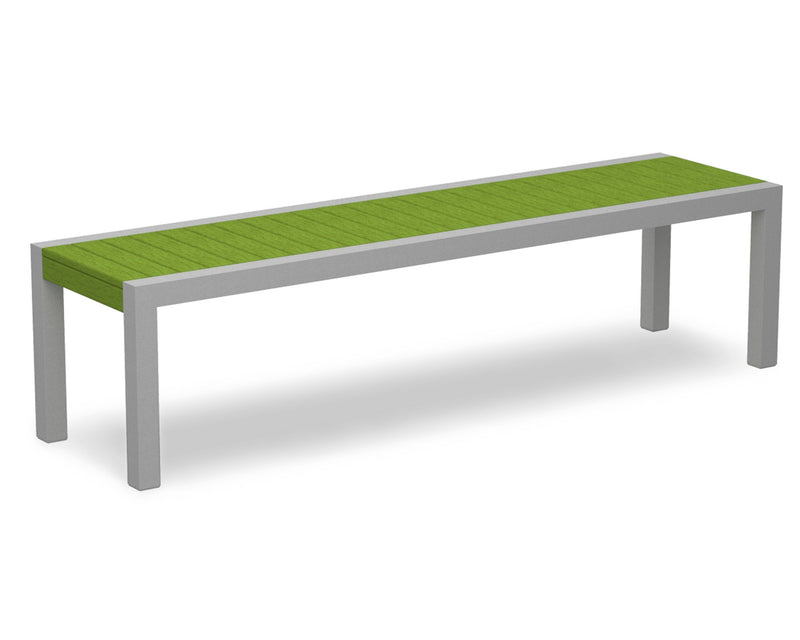 3800-11LI MOD Bench in Textured Silver & Lime