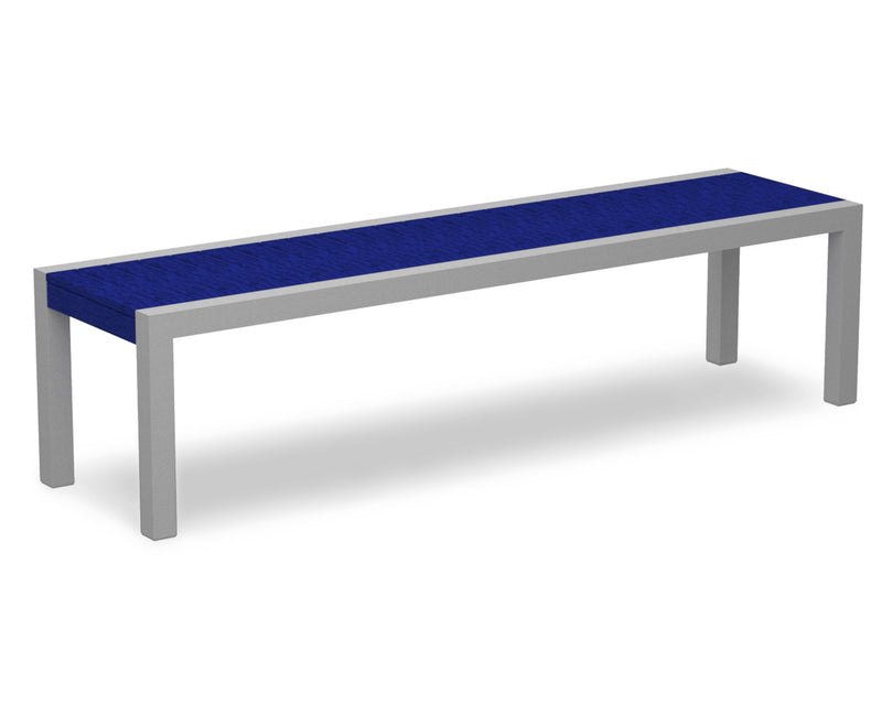 3800-11PB MOD Bench in Textured Silver & Pacific Blue
