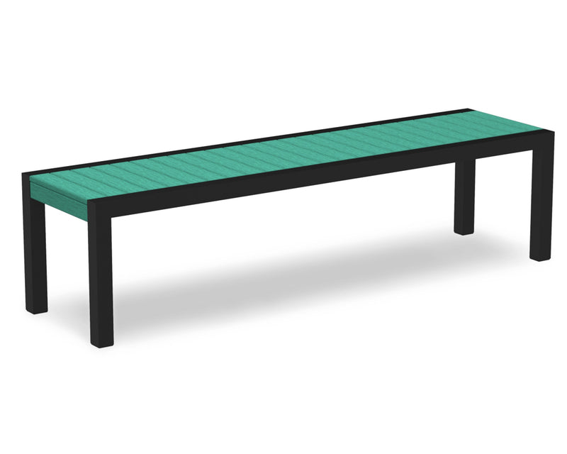 3800-12AR MOD Bench in Textured Black & Aruba