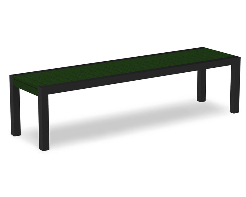 3800-12GR MOD Bench in Textured Black & Green