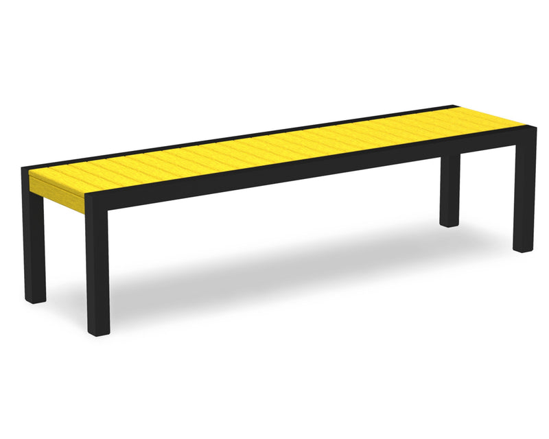 3800-12LE MOD Bench in Textured Black & Lemon