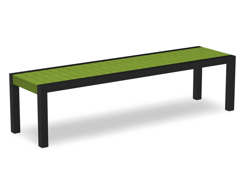 3800-12LI MOD Bench in Textured Black & Lime