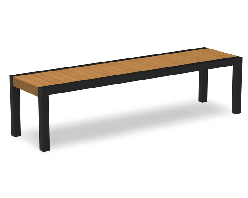 3800-12NT MOD Bench in Textured Black & Plastique Natural Teak