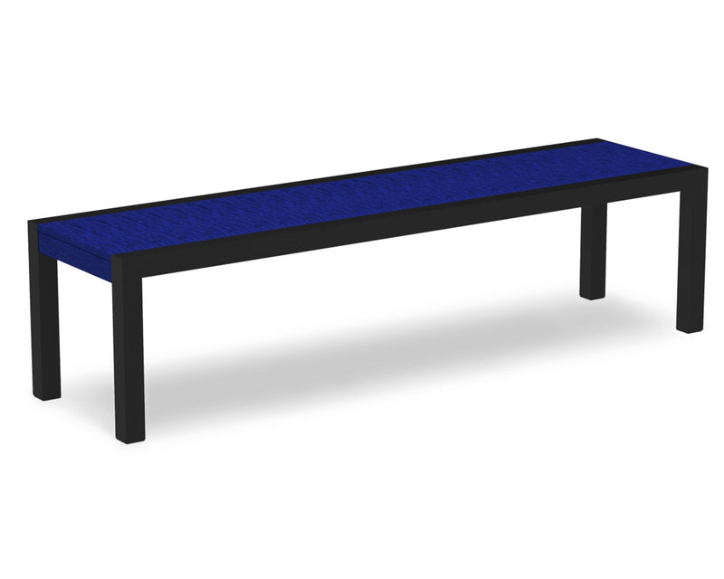 3800-12PB MOD Bench in Textured Black & Pacific Blue