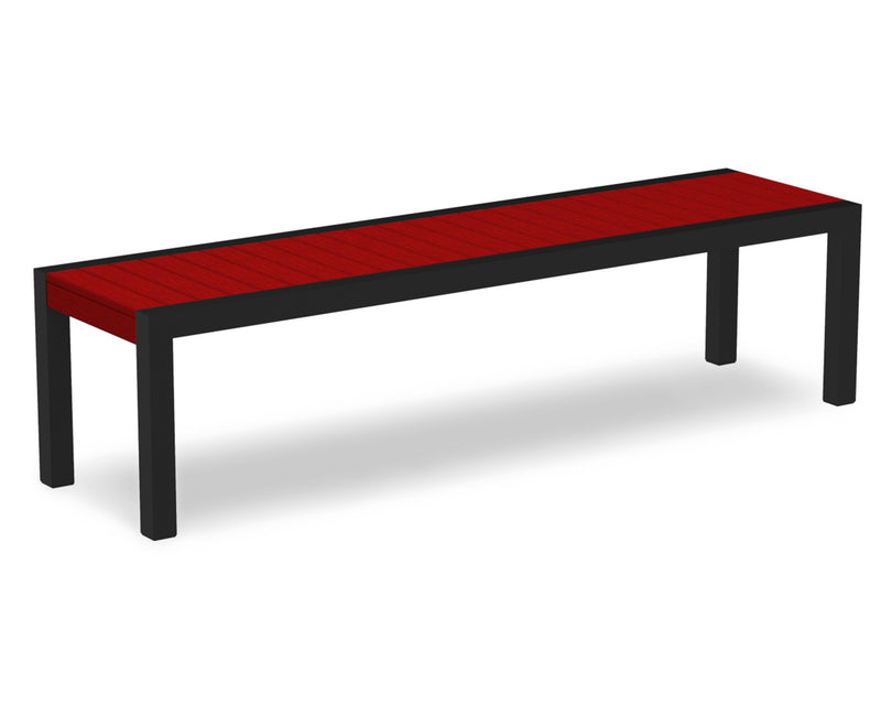 3800-12SR MOD Bench in Textured Black & Sunset Red