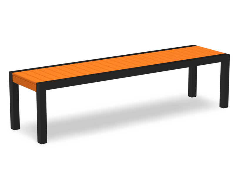3800-12TA MOD Bench in Textured Black & Tangerine