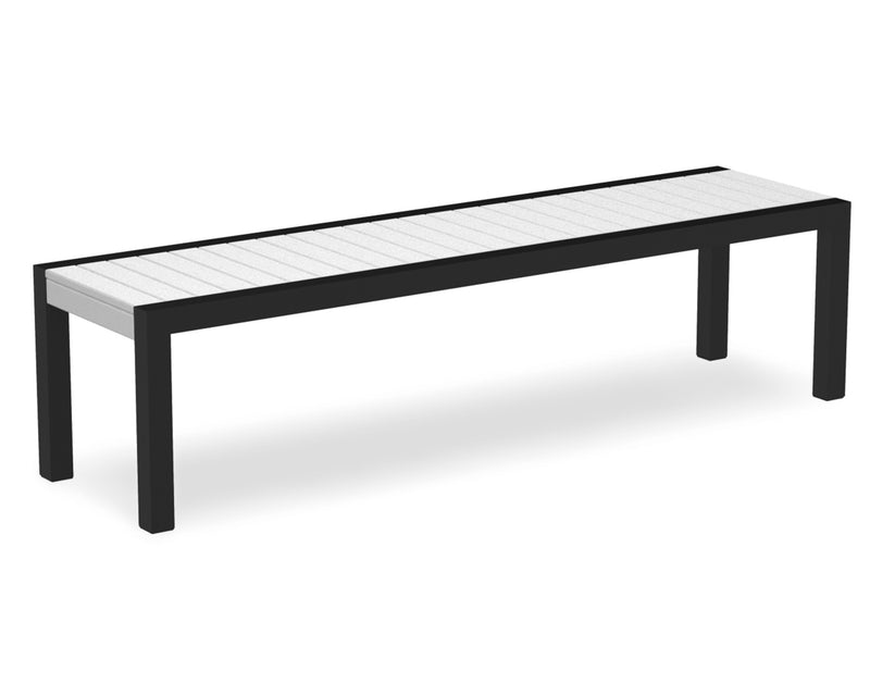 3800-12WH MOD Bench in Textured Black & White