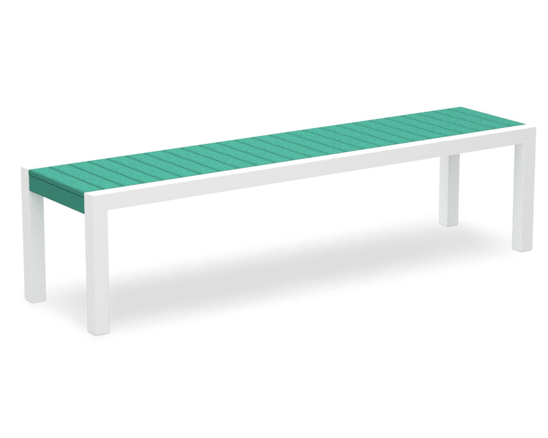 3800-13AR MOD Bench in Satin White & Aruba
